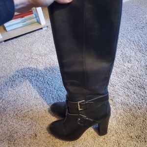 Nine West Leather high heal boots